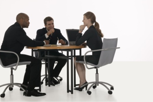 Stock Photo: 1557R-357300 Business team meeting and using laptop