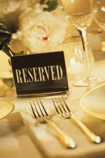 Reserved table : Stock Photo