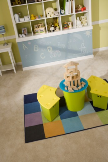 Building blocks in children's room : Stock Photo