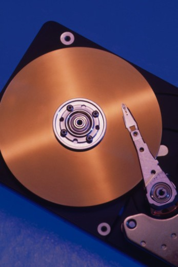 Stock Photo: 1557R-363291 Internal view of hard drive