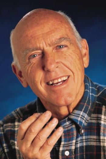 Senior man remembering : Stock Photo