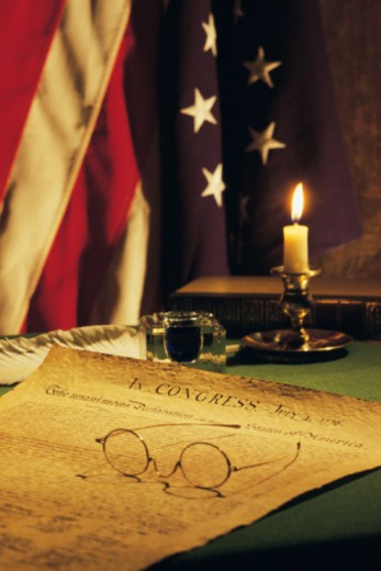 Declaration Of Independence , Americana : Stock Photo