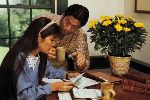 Couple working on personal finances : Stock Photo
