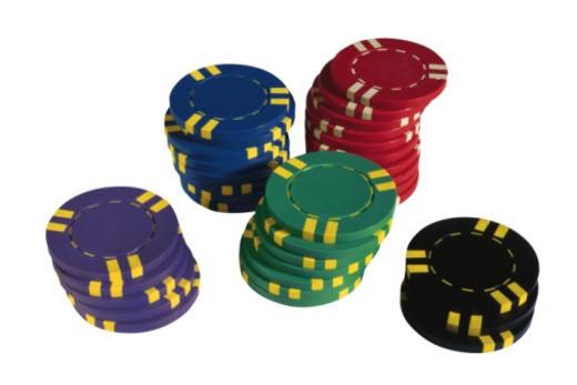 Stacks of poker chips : Stock Photo
