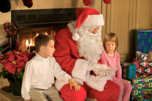 Children with Santa Claus : Stock Photo