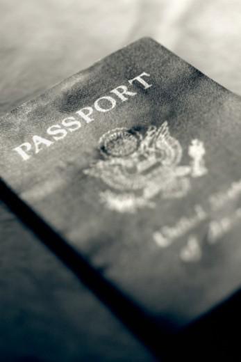 Stock Photo: 1557R-371624 American passport