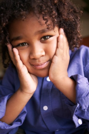 Stock Photo: 1557R-374896 Portrait of pre-teen boy
