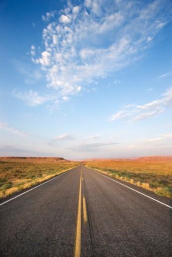 Stock Photo: 1557R-376242 Desert highway