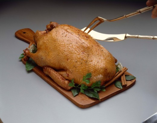Stock Photo: 1557R-376794 Roasted duck