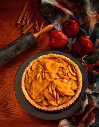 Apple pie with cheddar cheese : Stock Photo