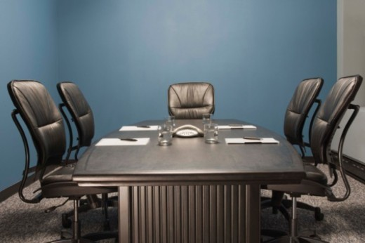 Stock Photo: 1557R-378529 Conference room table