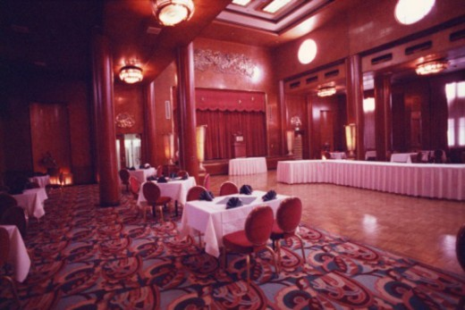 Empty banquet room : Stock Photo