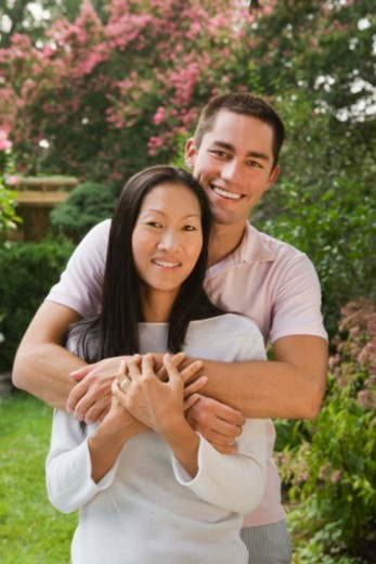Portrait of smiling and affectionate couple : Stock Photo