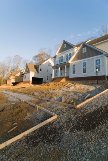 House construction site : Stock Photo