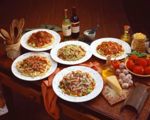 Italian cuisine still life : Stock Photo