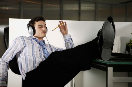 Stock Photo: 1557R-381657 Daydreaming office worker