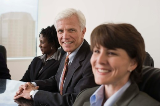 Stock Photo: 1557R-383418 Businesspeople in a meeting