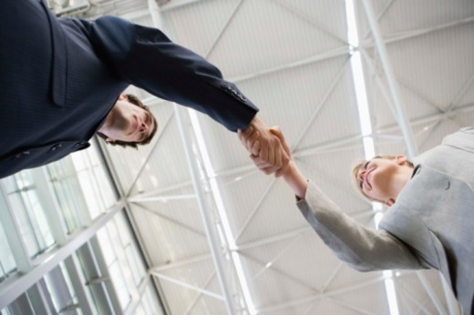 Stock Photo: 1557R-383510 Businesspeople shaking hands