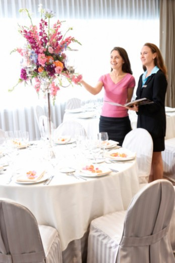 Women in restaurant : Stock Photo