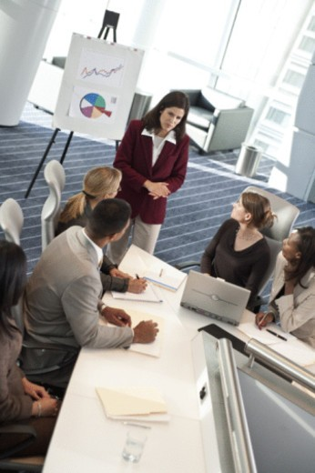Stock Photo: 1557R-398556 Business meeting in convention center