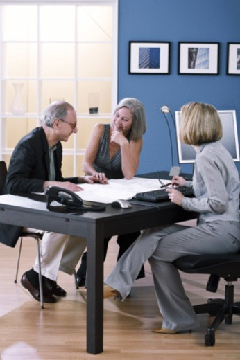 Stock Photo: 1557R-398616 home office business meeting