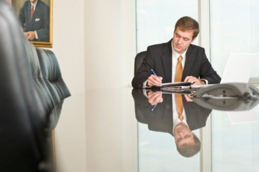man at work in office : Stock Photo
