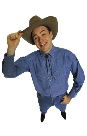 Cowboy tipping hat : Stock Photo