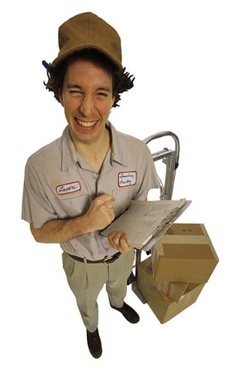 Stock Photo: 1557R-40091 Delivery man with packages