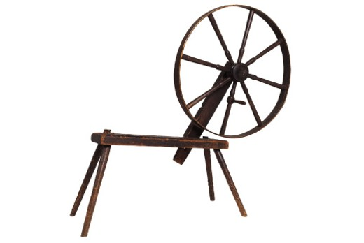 Stock Photo: 1557R-55063 Old-fashioned spinning wheel