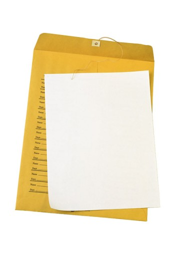 Stock Photo: 1557R-85060 Internal office envelope and paper