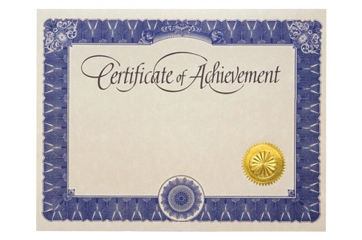 Stock Photo: 1557R-85069 Certificate of achievement