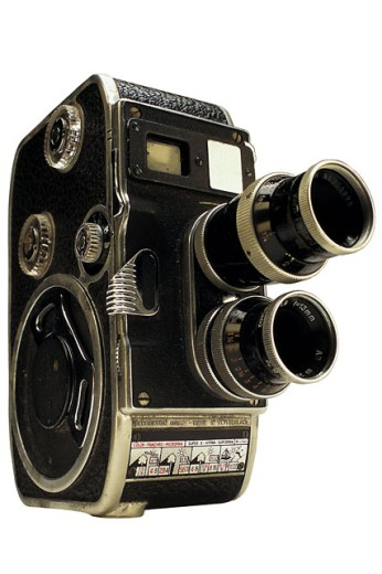 Old-fashioned video camera : Stock Photo