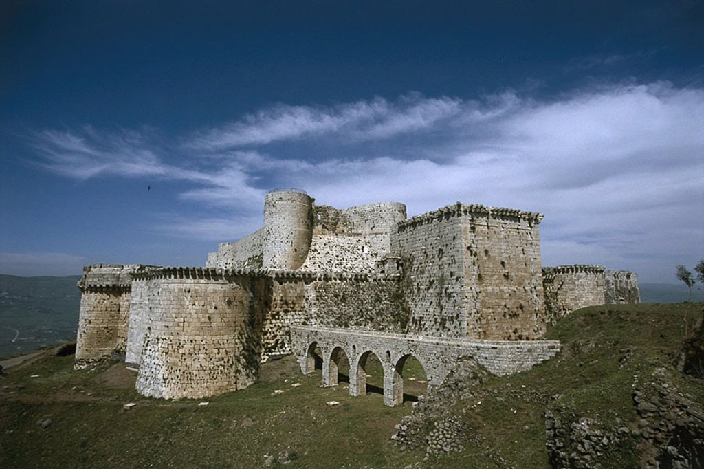 Stock Photo: 1558-108987 Syria, Jabal Kalakh, Crac of the Chevaliers, Near east, Near East, sight, UNESCO-Weltkulturerbe, Krak, Qual´at al-Husn, construction, buildings, architecture, castle, crusader-castle, fortress, crusader-fortress, concept, crusades, conquest, defense, Midd
