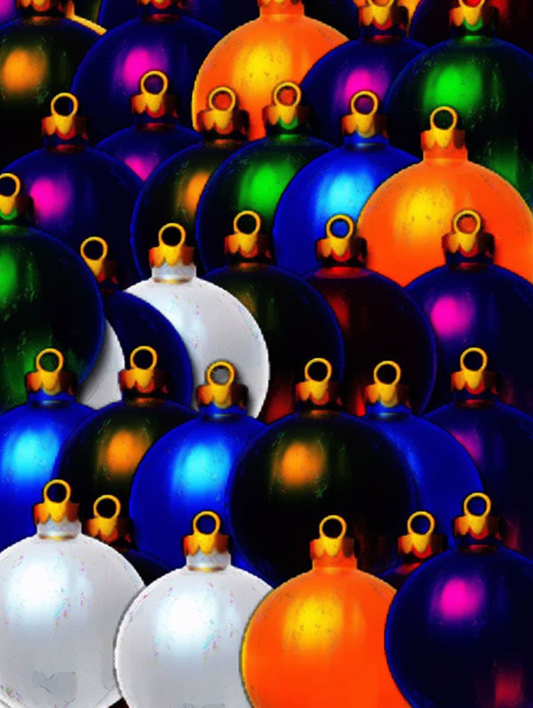 Stock Photo: 1558-115212 Computer-graphics, Christmas, Christian-tree-balls, colorfully, detail, balls, Dekokugeln, approximately, many, decoration, Christmas-like, tradition, decorates, concept, Christmas time, tree-jewelry, Christian-tree-jewelry, Christmas-decoration, Christma