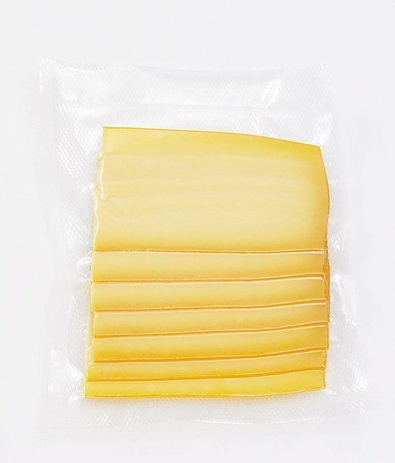 Cheese-disks, foil-package, food, milk-product, cheese, disks, cheese-cold cuts, cut packed, one-welded, airtight, packed, durable, vakuumiert, storage, package, foil, transparently, quietly life, fact-reception, studio, : Stock Photo