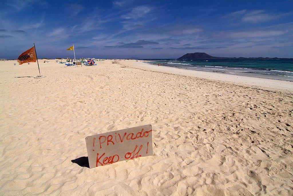 Spain, Canaries, island Fuerteventura, Playas de Corralejo, beach, : Stock Photo