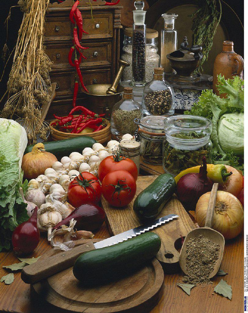 Stock Photo: 1558-128914 Kitchen, Vegetable, Spices