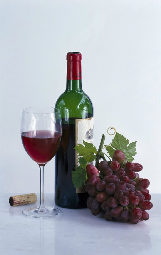 Still life, Red wine, Drink : Stock Photo