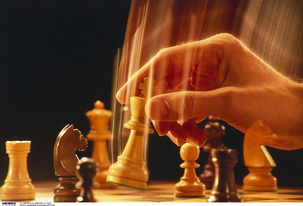Stock Photo: 1558-130060 Chess, Hand, Board game