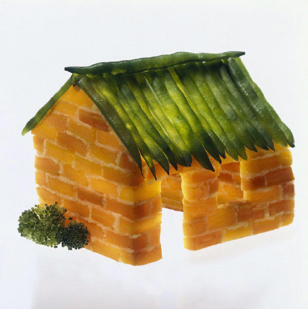 Symbol, Vegetable, House : Stock Photo