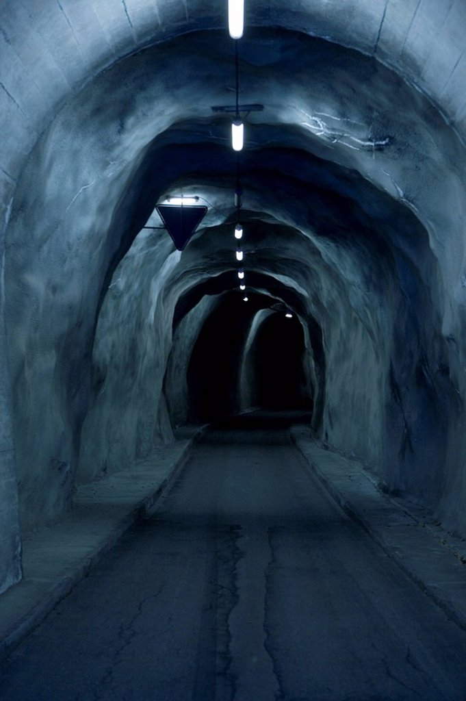 Tunnels, Lukmanierpass, Switzerland, Graubünden, : Stock Photo