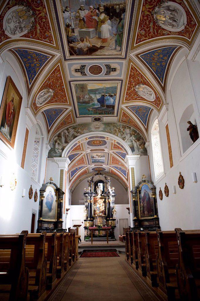 Austria, Vorarlberg, Bregenz, Gebhardsberg, pilgrimage-church St  Gebhard, : Stock Photo