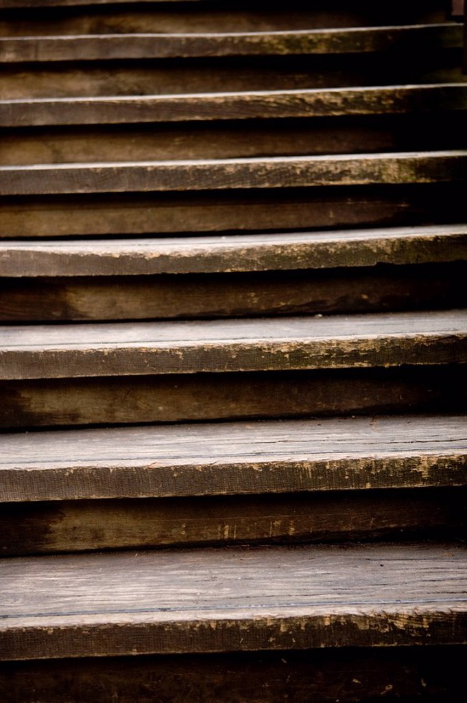 Wood-stairway, old, steps, detail, : Stock Photo