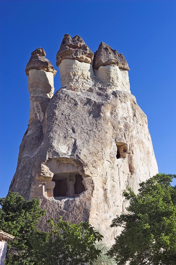 Stock Photo: 1558-145589 Turkey, Cappadocia, Göreme, rock_formations, rock_apartments