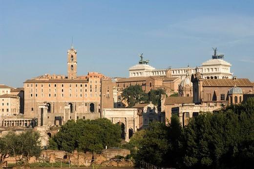 Stock Photo: 1558-147075 Italy, Rome, forum Romanum, overview,