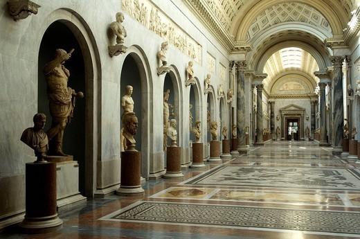 Stock Photo: 1558-147590 Italy, Rome, Vatican, Vatican museum, braccio Nuovo, Museo Chiaramonti,