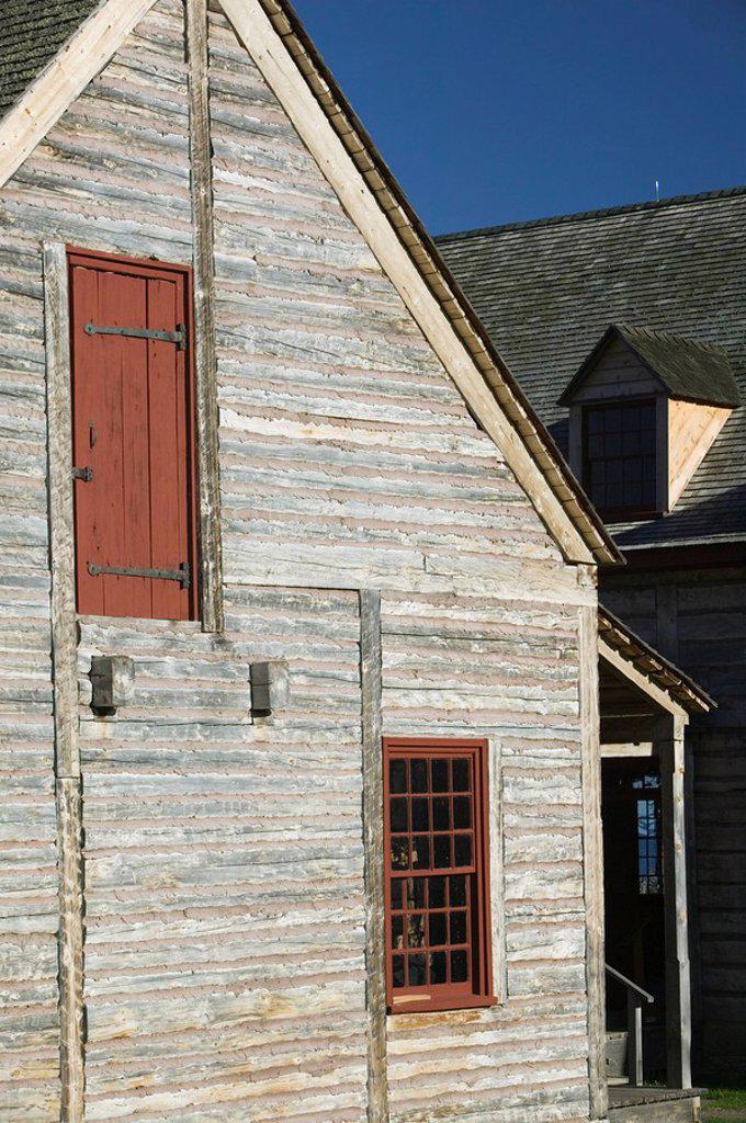 Stock Photo: 1558-148799 usa, Minnesota, Grand Portage, framehouse, close_up