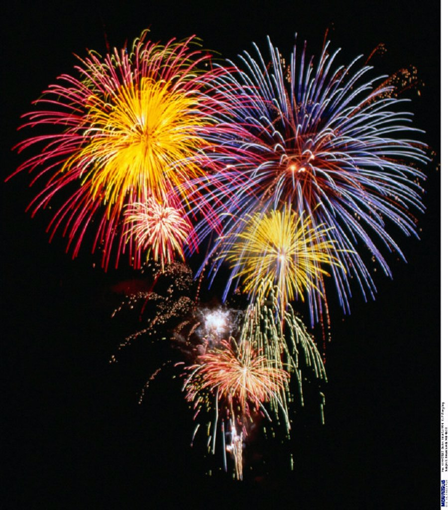 Stock Photo: 1558-158383 Fireworks, New Year