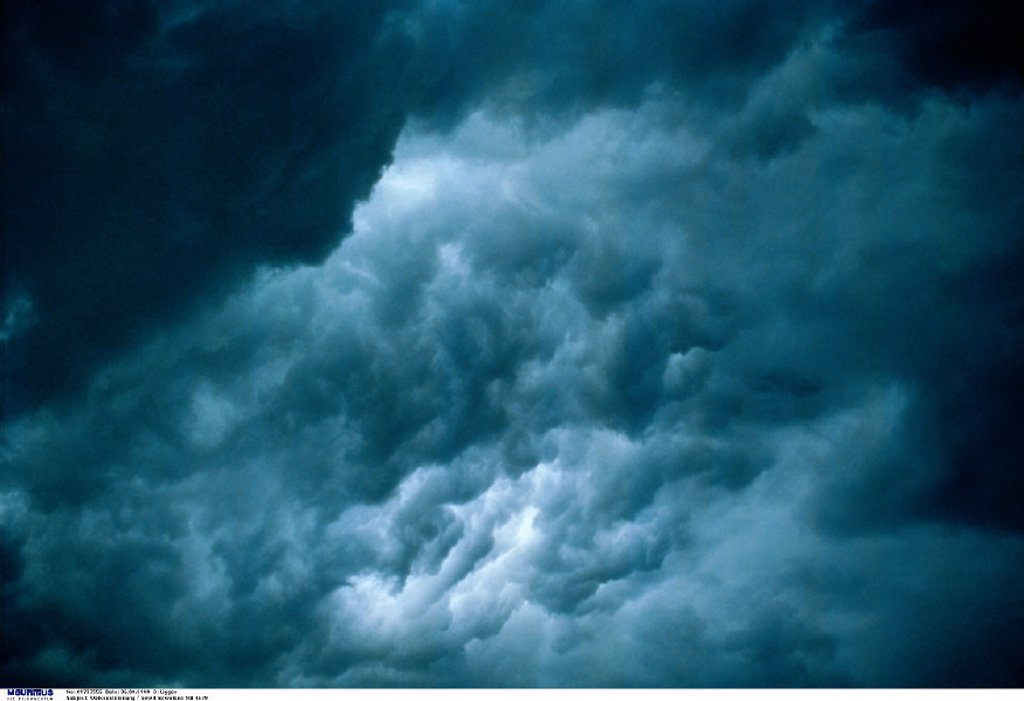 Stock Photo: 1558-158405 Cloudy heaven, Thunderclouds, Stormy atmosphere