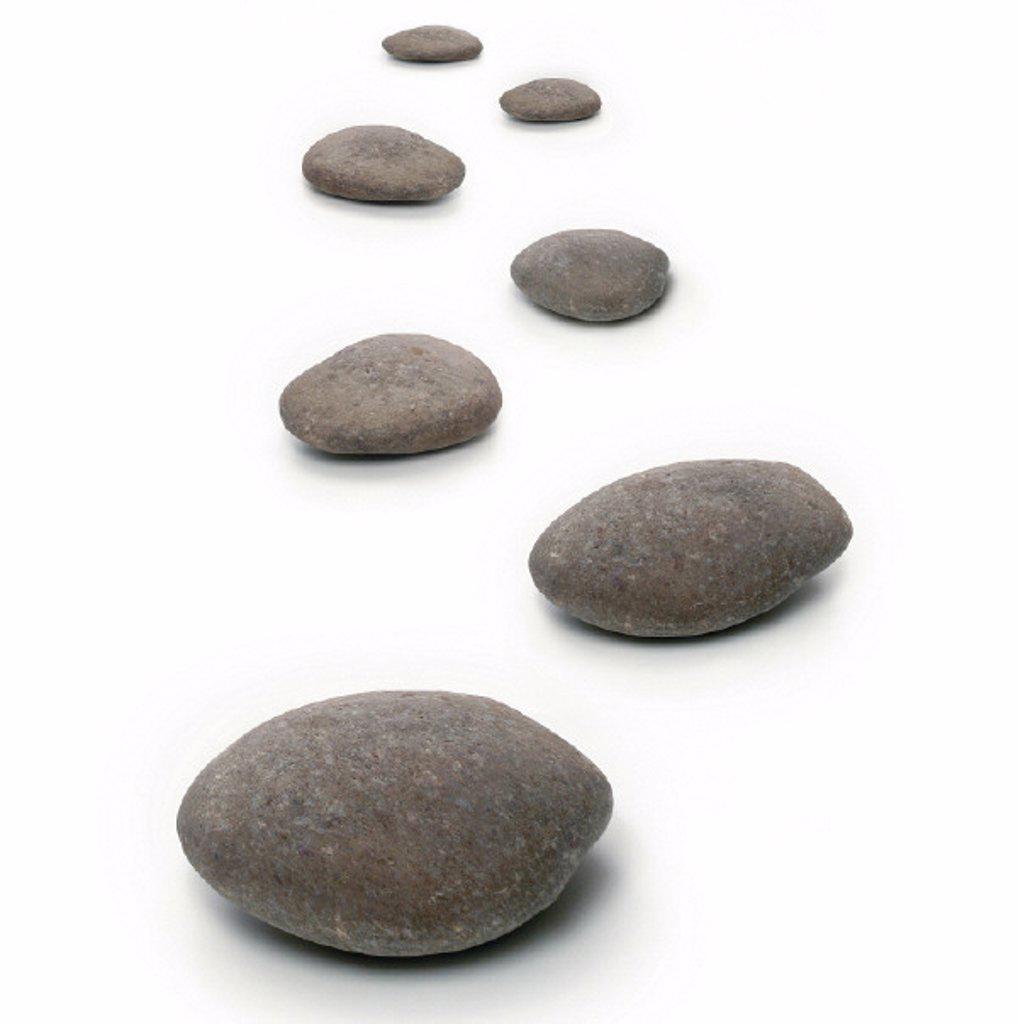 Stock Photo: 1558-159436 stones, way, still life